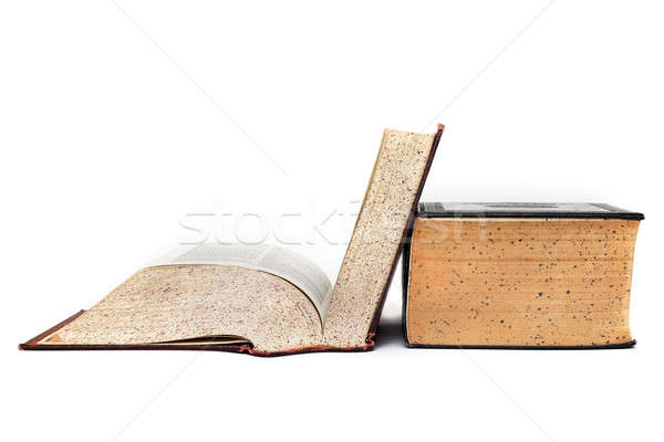 Vieux dictionnaire ouvrir flash peu Photo stock © aetb