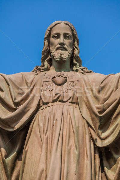 Açık heykel İsa açmak silah eller Stok fotoğraf © aetb