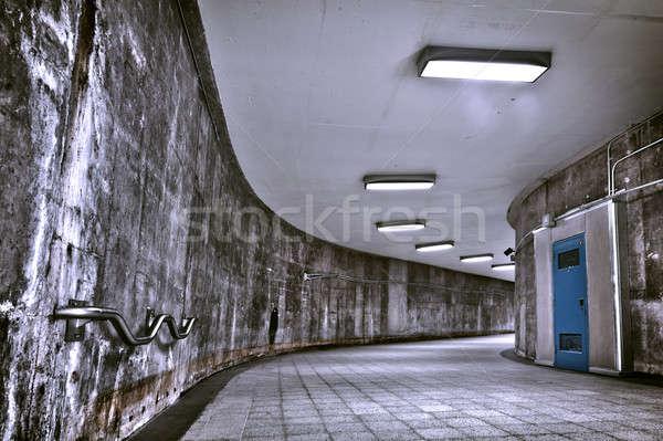 Hdr ondergrondse grunge metro gang mooie Stockfoto © aetb