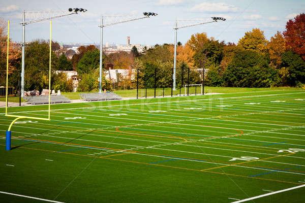 Futbol sahası açık kamu park alan yeşil Stok fotoğraf © aetb