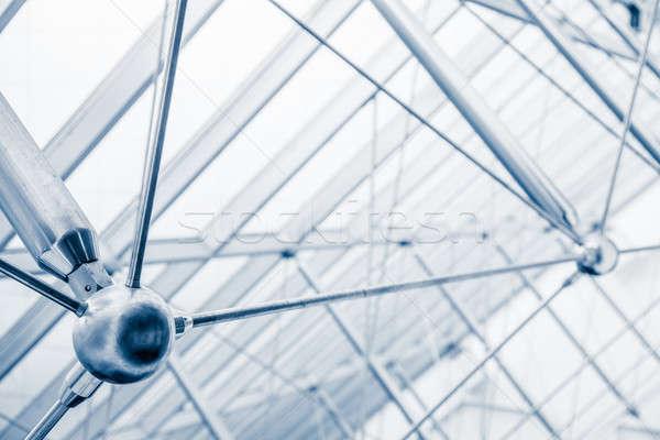 Nowoczesne architektoniczny świetlik struktury szczegóły Zdjęcia stock © aetb