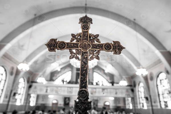 Dettaglio cross chiesa Gesù culto Foto d'archivio © aetb