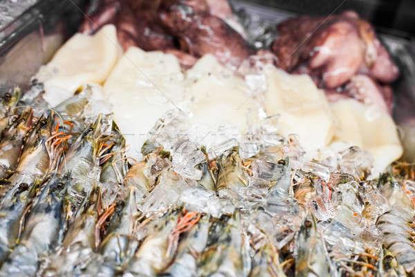 Diğer deniz ürünleri restoran karşı balık deniz Stok fotoğraf © aetb