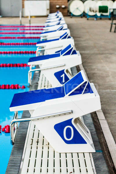 Olympic Pool Starting Blocks Stock photo © aetb
