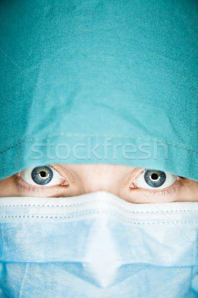 Soyut hemşire yüz Stok fotoğraf © aetb