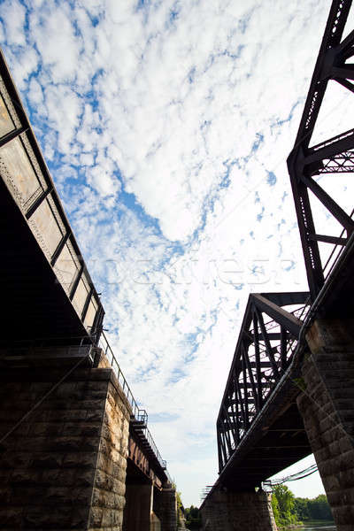 抽象的な 列車 トラック 曇った 空 ストックフォト © aetb