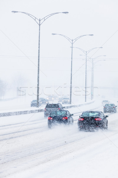 Blizzard on the Road Stock photo © aetb