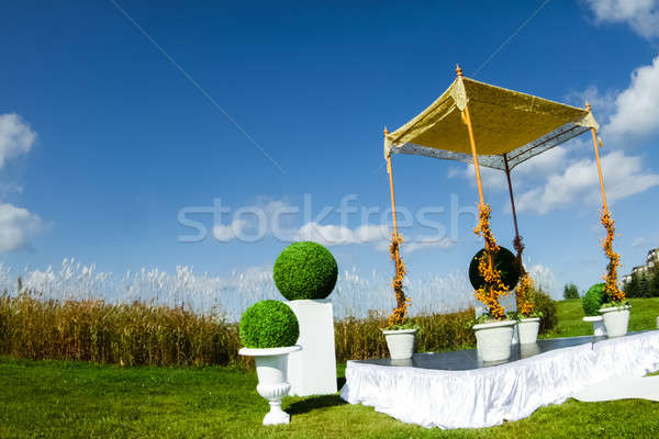 Outdoor Jewish Wedding ceremony Stock photo © aetb