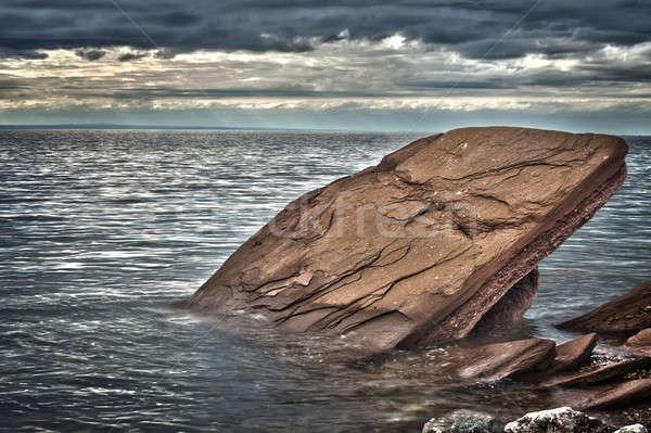 рок воды природы морем Storm волна Сток-фото © aetb