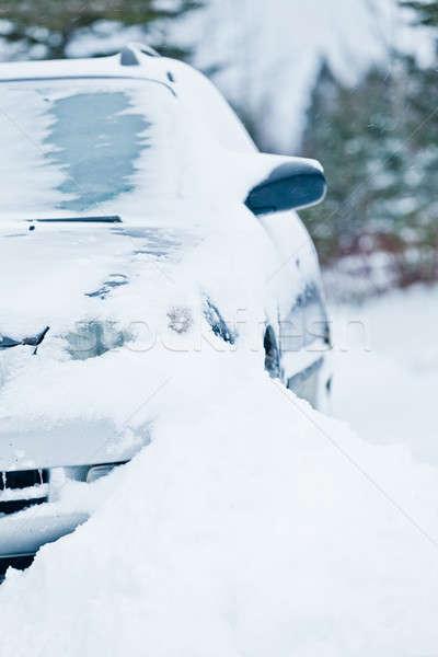 Autó leragasztott hó jég tél vihar Stock fotó © aetb