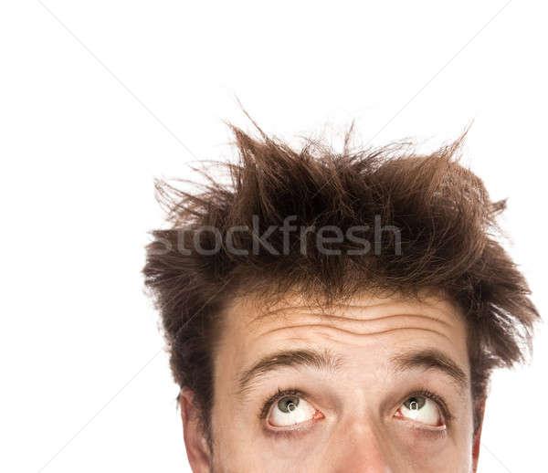 исчерпанный человека изолированный белый Сток-фото © aetb