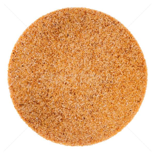 Aglio polvere texture perfetto cerchio isolato Foto d'archivio © aetb