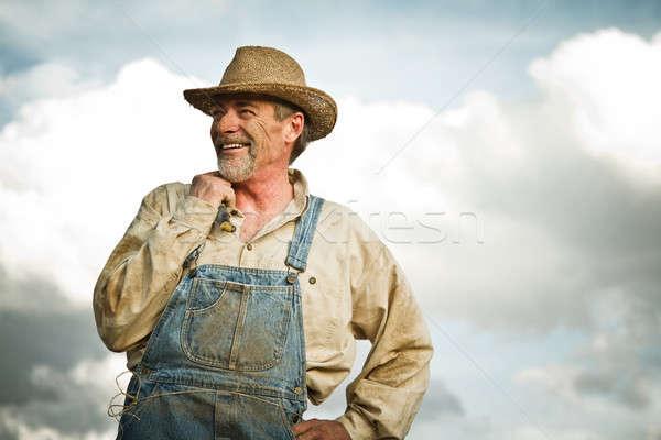 Zdjęcia stock: 1930 · rolnik · uśmiechnięty · słońce