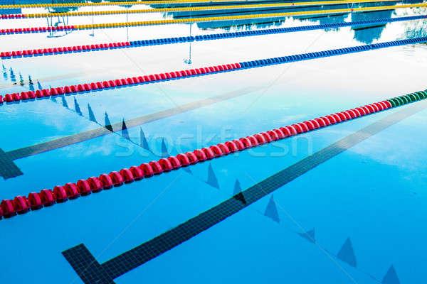 Havuz koridor kablolar açık Stok fotoğraf © aetb