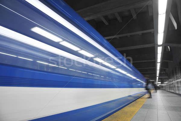 Girl Waiting the metro  Stock photo © aetb