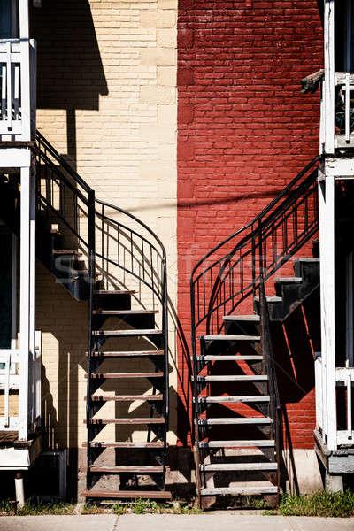 Simétrico dois diferente cores vermelho bege Foto stock © aetb