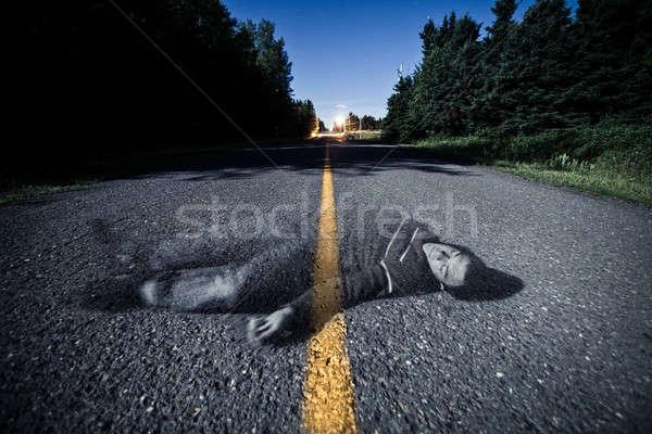 Lege weg dode spook midden nacht Stockfoto © aetb