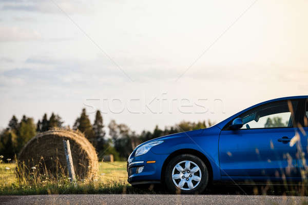 Car in a rural scene Stock photo © aetb