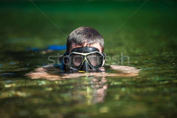 Fiume occhiali scuba acqua Foto d'archivio © aetb