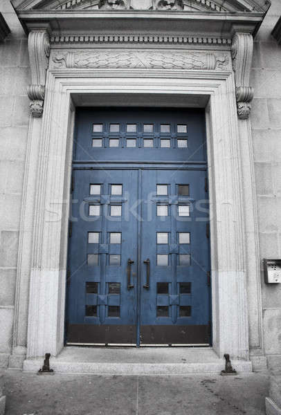 синий двери стены кадр Церкви архитектура Сток-фото © aetb