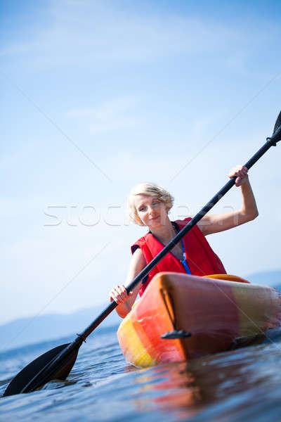 женщину только морем Сток-фото © aetb