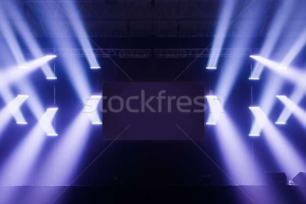 Spot luci fase schermo mezzo vuota Foto d'archivio © aetb