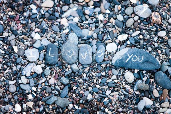 Amore nota rocce natura mano design Foto d'archivio © aetb