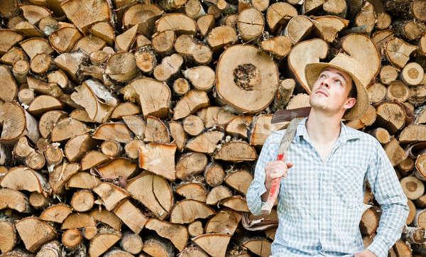 麦わら帽子 木材 森林 作業 ホーム 業界 ストックフォト © aetb