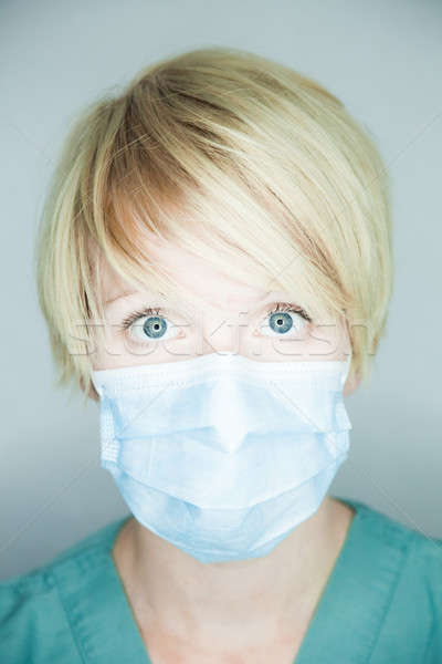 Nurse looking at you (straight portrait)  Stock photo © aetb