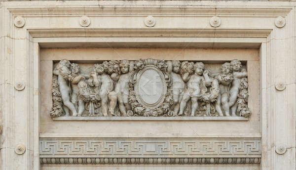 Arch marmo dettaglio trono sala arte Foto d'archivio © AEyZRiO