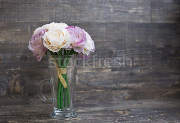 Artificial flower bouquet in vase Stock photo © Agatalina