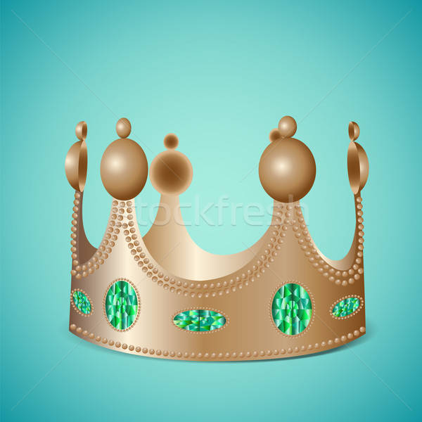 Bronze crown with gems Stock photo © Agatalina