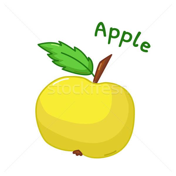 Isolated apple icon Stock photo © Agatalina