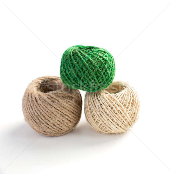 Three isolated skeins of thread Stock photo © Agatalina