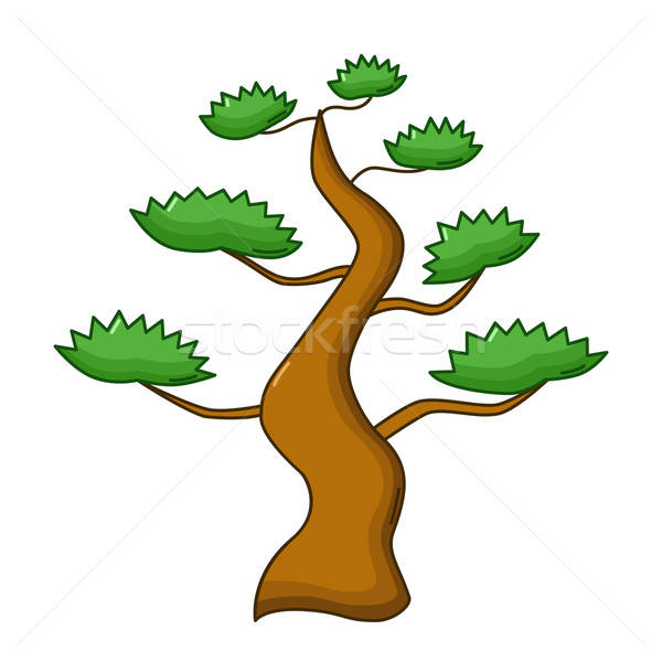 Bonsai tree icon, cartoon style Stock photo © Agatalina