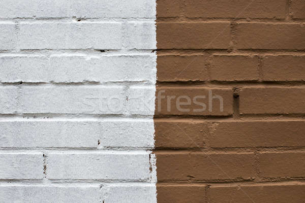 белый коричневый кирпичная стена кофе строительство стены Сток-фото © Agatalina