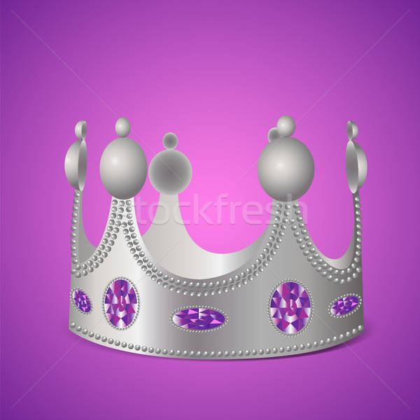 Photo stock: Argent · couronne · pourpre · photo · réaliste
