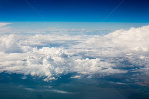 Sky clouds and land background Stock photo © Agatalina