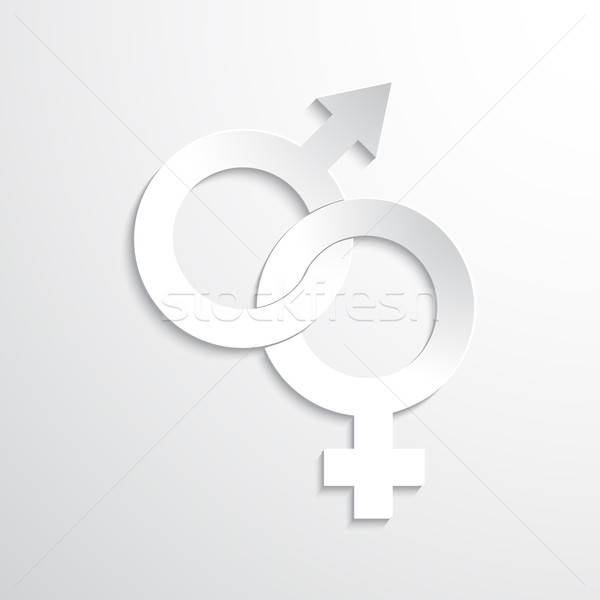 Vector Paper Gender Sign Stock photo © Agatalina