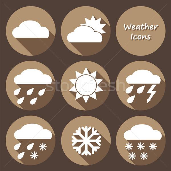 モノクロ 天気 予測 ベクトル コレクション ストックフォト © Agatalina