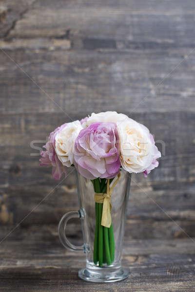 искусственный букет ваза вертикальный воображение Сток-фото © Agatalina
