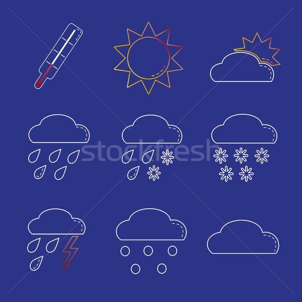Stock photo: Weather icon set