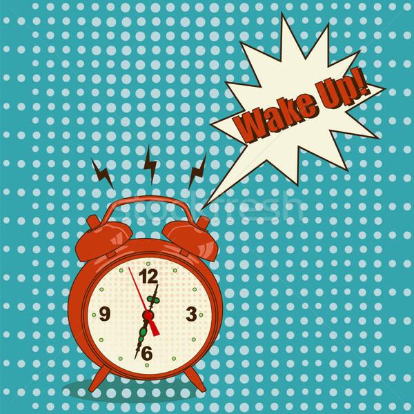 Alarm clock in pop art style Stock photo © Agatalina