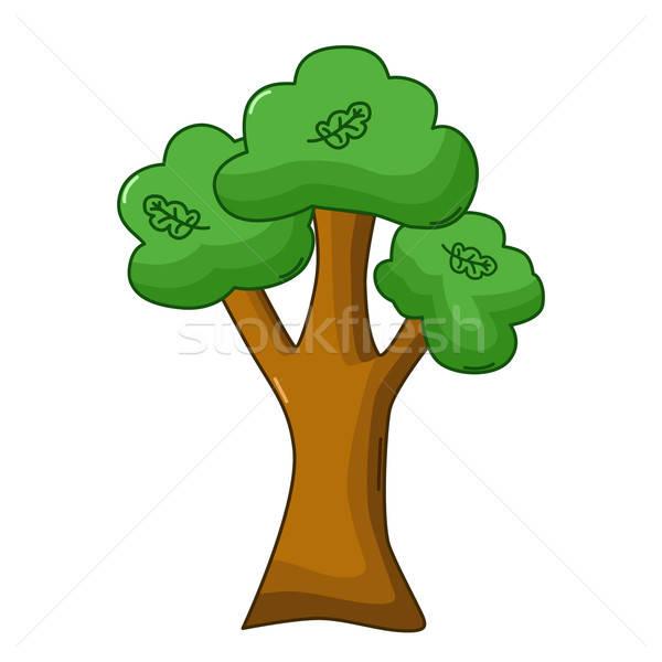 Oak tree icon, cartoon style Stock photo © Agatalina