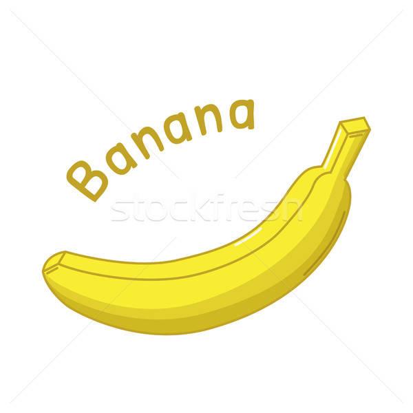 Odizolowany bananów ikona surowy nazwa żywności Zdjęcia stock © Agatalina