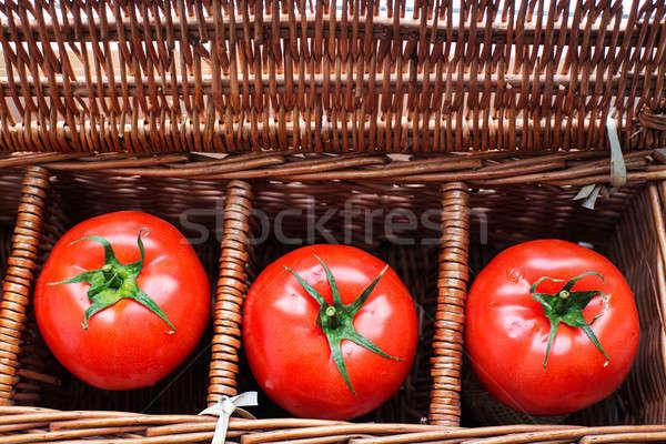 три помидоров плетеный окна роса отдельно Сток-фото © Agatalina