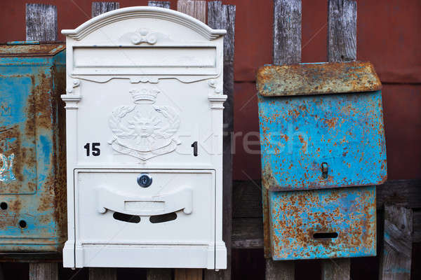 New and old mailboxes Stock photo © Agatalina