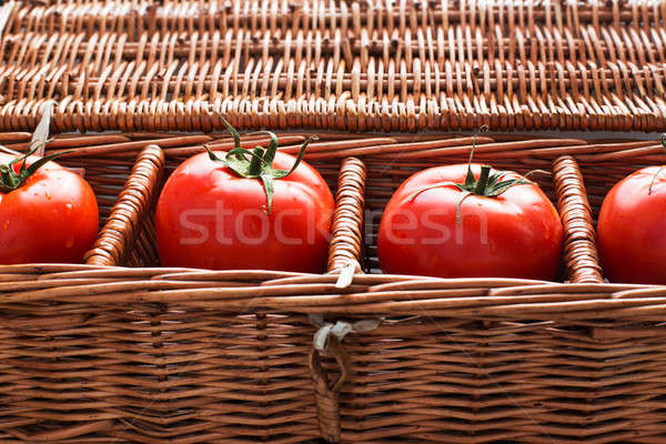 Stock photo: Four tomatoes with dew