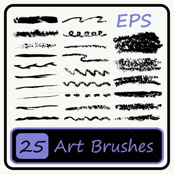 Brush strokes - Vector Illustration Stock photo © Agatalina