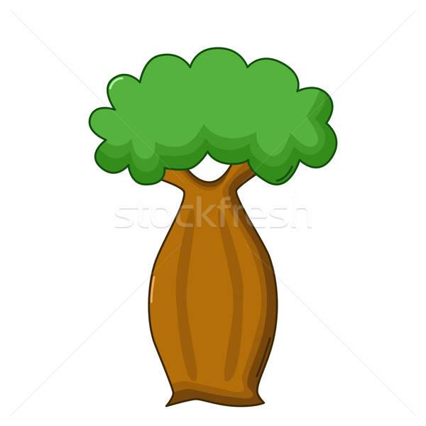 Bottle tree icon, cartoon style Stock photo © Agatalina